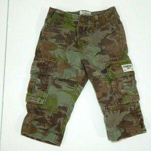 Oshkosh B'Gosh 9 months Green Camo Cargo Pant